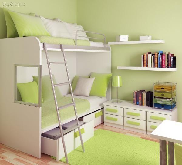 شکل طراحی و مدل چیدمان دکوراسیون داخلی اتاق خواب نوجوان