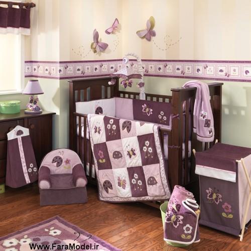 شکل طراحی و مدل چیدمان دکوراسیون داخلی اتاق خواب کودک دختر